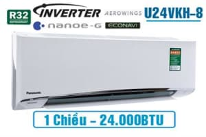 Điều hòa Panasonic inverter 1 chiều U24VKH-8 24.000BTU