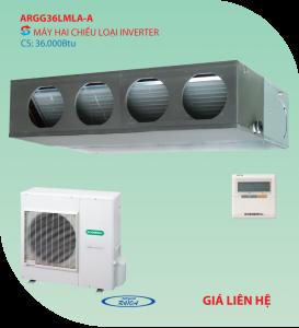 Điều hòa nối ống gió General 2 chiều ARGG36LMLA-A inverter 36.000BTU