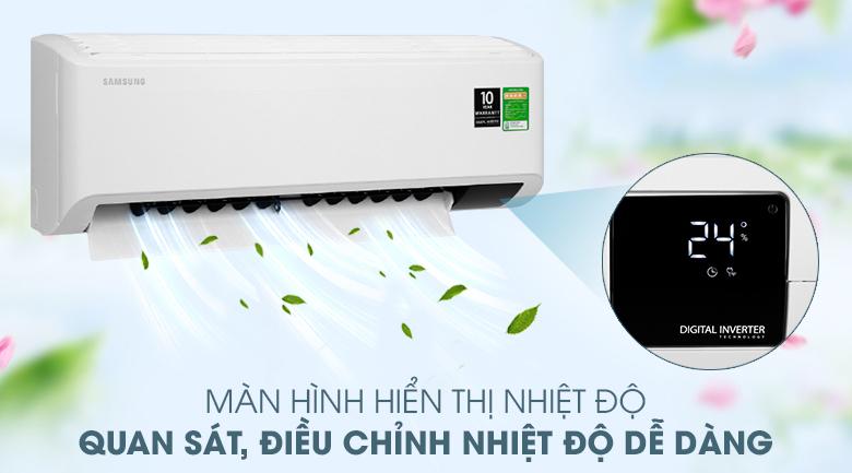 Máy lạnh Samsung Inverter 2 HP AR18TYHYCWKNSV - Màn hình hiển thị nhiệt độ