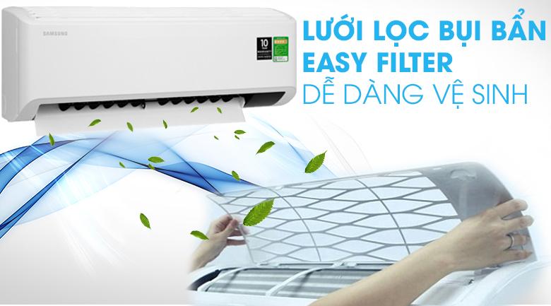 Máy lạnh Samsung Inverter 2 HP AR18TYHYCWKNSV-Tháo lắp, vệ sinh dễ dàng với lưới lọc bụi bẩn Easy Filter