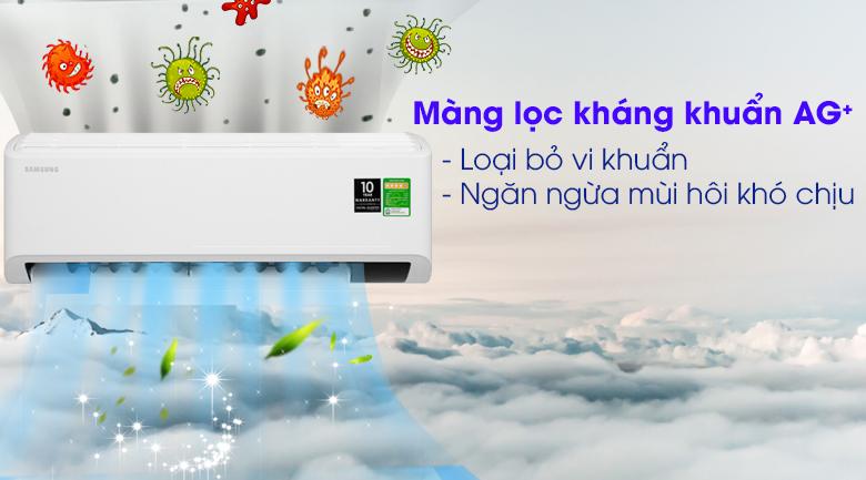 Máy lạnh Samsung Inverter 2 HP AR18TYHYCWKNSV-Loại bỏ vi khuẩn, ngăn ngừa mùi hôi khó chịu nhờ màng lọc kháng khuẩn Ag+