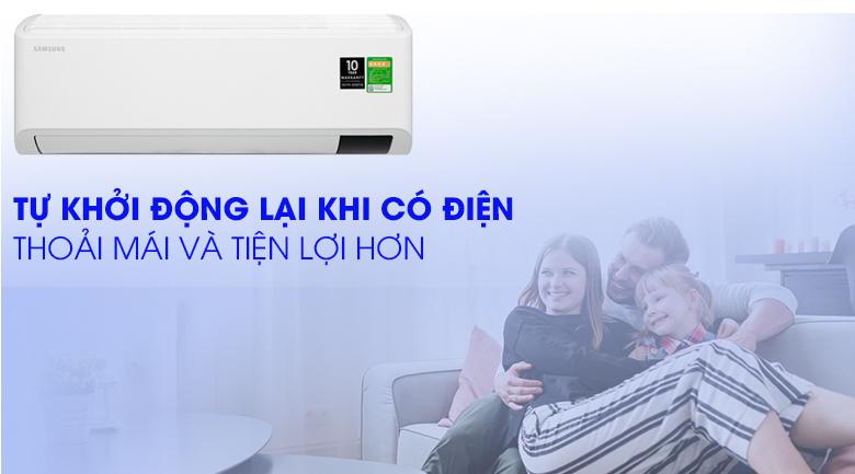 Máy lạnh Samsung Inverter 2 HP AR18TYHYCWKNSV-Tiện lợi với chế độ tự khởi động khi có điện