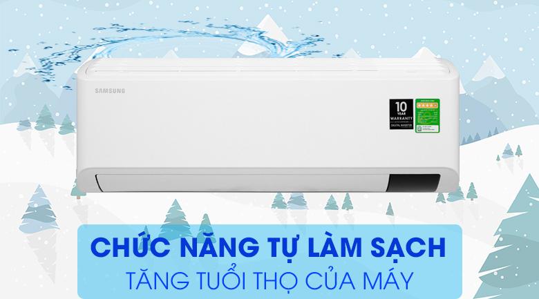 Máy lạnh Samsung Inverter 2 HP AR18TYHYCWKNSV-Làm lạnh hiệu quả, độ bền máy cao với chức năng tự làm sạch